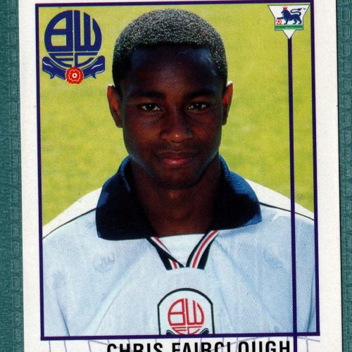 Merlin Collection Premier League 96 Sticker - Chris Fairclough Bolton Wanderers